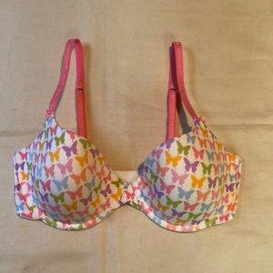 EUC Victorias Secret Cotton Lined Demi Bra 36D
